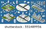 cityscape design elements with... | Shutterstock .eps vector #551489956