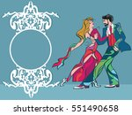 party poster.dancing couple... | Shutterstock .eps vector #551490658