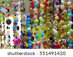 colorful bijouterie and... | Shutterstock . vector #551491420