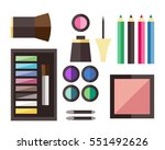 beauty cosmetic icons | Shutterstock .eps vector #551492626