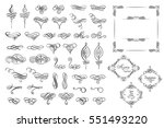 set collection of vector... | Shutterstock .eps vector #551493220