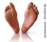 Clean Bare Feet With Reflectio...
