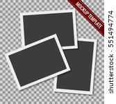 set of blank retro photographs... | Shutterstock .eps vector #551494774