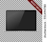 realistic modern open laptop... | Shutterstock .eps vector #551494780