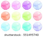 set of watercolor shapes.... | Shutterstock . vector #551495740