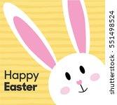 Cute Cartoon Bunny Rabbit Happ...