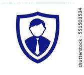 shield protection vector icon....   Shutterstock .eps vector #551503534