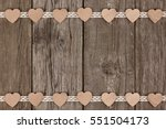 Double Border Of Wooden Hearts...