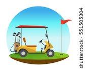 golf sport concept represented... | Shutterstock .eps vector #551505304