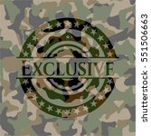 exclusive on camouflaged pattern | Shutterstock .eps vector #551506663