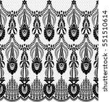 seamless lace pattern  flower...   Shutterstock .eps vector #551510614