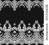 seamless lace pattern  flower... | Shutterstock .eps vector #551510638