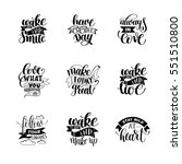 set of handwritten lettering... | Shutterstock .eps vector #551510800