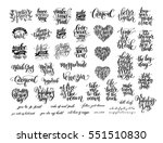 big set of black and white... | Shutterstock .eps vector #551510830