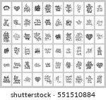 mega set of 60 hand written... | Shutterstock .eps vector #551510884