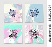 set of four handwritten... | Shutterstock .eps vector #551510929