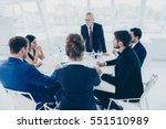 team of business experts... | Shutterstock . vector #551510989