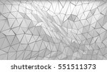 abstract polygonal triangle 3d... | Shutterstock . vector #551511373