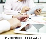 business people analyzing and... | Shutterstock . vector #551511574