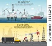 vector oil rig industry of...   Shutterstock .eps vector #551512456