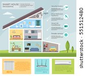 smart home infographic concept... | Shutterstock .eps vector #551512480