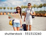 happy couple in love on... | Shutterstock . vector #551513260