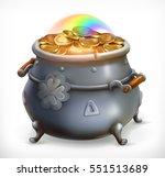 patrick's day treasure. pot of... | Shutterstock .eps vector #551513689