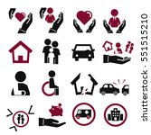 insurance icon set | Shutterstock .eps vector #551515210