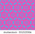 modern geometric seamless... | Shutterstock . vector #551525506