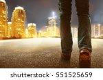 Man Walking In The City