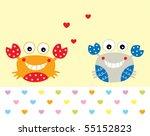 merry crab couple | Shutterstock .eps vector #55152823