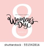 8 march international women's...   Shutterstock .eps vector #551542816