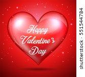 happy valentine's day red heart | Shutterstock .eps vector #551544784