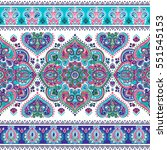 indian floral paisley medallion ... | Shutterstock .eps vector #551545153