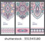 indian floral paisley medallion ... | Shutterstock .eps vector #551545180