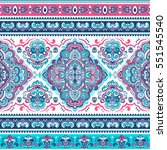 indian floral paisley medallion ... | Shutterstock .eps vector #551545540