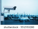 cctv camera or surveillance... | Shutterstock . vector #551553280