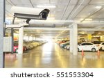 cctv security camera on blur... | Shutterstock . vector #551553304