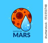 Water On Planet Mars  Concept...
