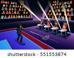 a vector illustration of singer ... | Shutterstock .eps vector #551553874