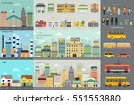 a vector illustration of city... | Shutterstock .eps vector #551553880