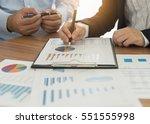 financial advisor team are...   Shutterstock . vector #551555998