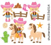 cute cowgirl vector cartoon...