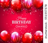 luxury birthday greeting card... | Shutterstock .eps vector #551557378
