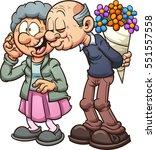 grandparents in love. vector... | Shutterstock .eps vector #551557558