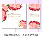 invitation with floral... | Shutterstock .eps vector #551559643
