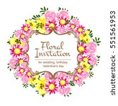 romantic invitation. wedding ... | Shutterstock .eps vector #551561953