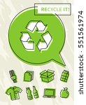 recycle it vector poster....   Shutterstock .eps vector #551561974