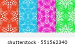 set of seamless decorative... | Shutterstock .eps vector #551562340