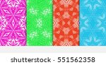 set of seamless decorative... | Shutterstock .eps vector #551562358